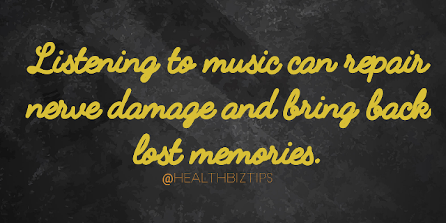 Listening to music can repair nerve damage and bring back lost memories.