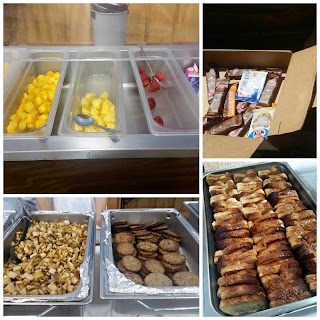 Breakfast and snack options at gluten-free camp