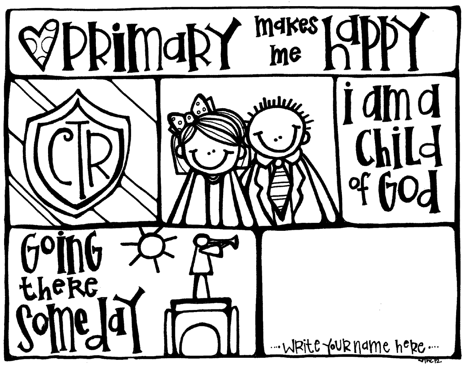 Melonheadz LDS illustrating: Primary coloring Page