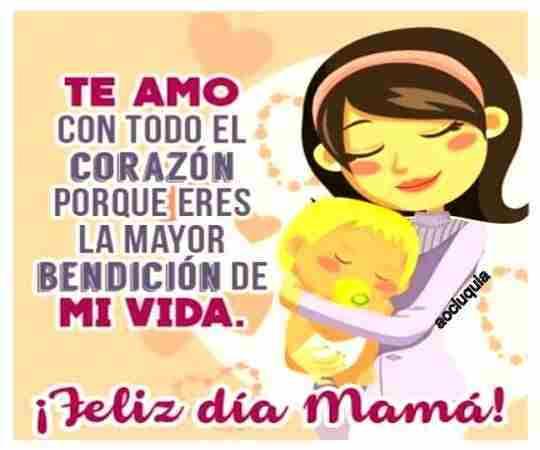 Mamá te quiero hoy y siempre te querré, felicidades por tu onomástico