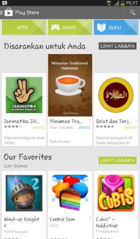 Play Store Android Tablet