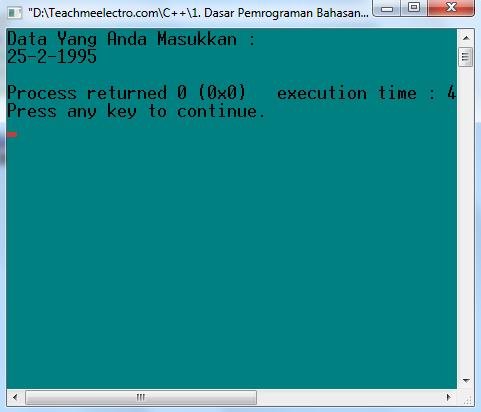 Program untuk memasukkan data kemudian menampilkan kembali ke dalam bentuk lain. Menggunakan fungsi clrscr()