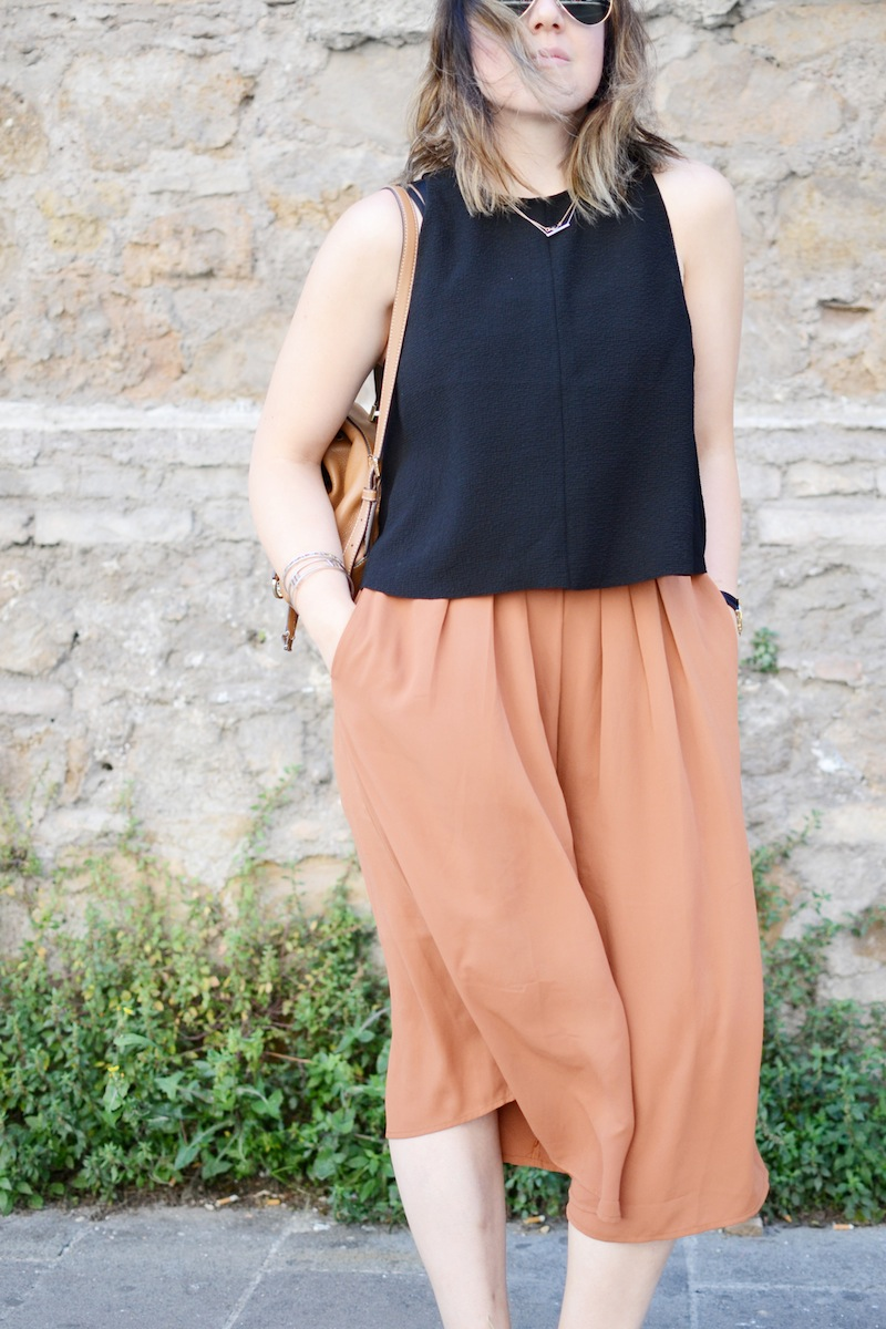 Summer travel outfit idea forever 21 culottes Aritzia wilfred tank vancouver fashion blogger