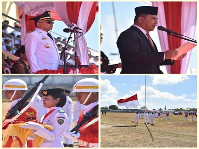 Anderias Rentanubun Pimpin Peringatan HUT Kemerdekaan RI ke 73 di Maluku Tenggara
