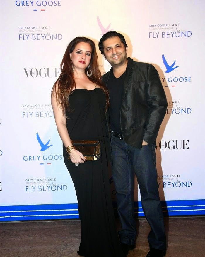 Laila Khan, Farhan Furniturewala, Pics from Red Carpet of Grey Goose & Vogue's Fly Beyond Awards 2014