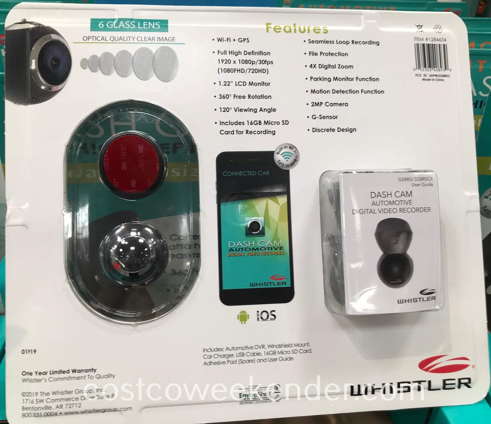 Costco 1284634 - Whistler Dash Cam: great for any of your vehicles