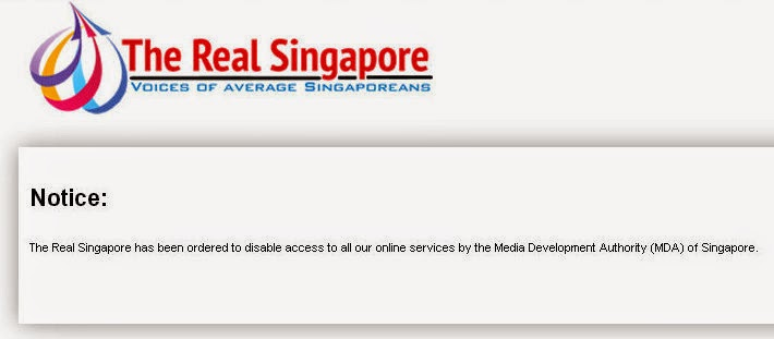 If only singaporeans stopped to think the real singapore shut down socio political website the real singapore trs was shut down by its editors yesterday after the media development authority mda suspended their licence ccuart Choice Image