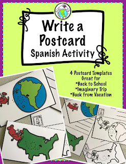 Write a Postcard Activity in Spanish Class