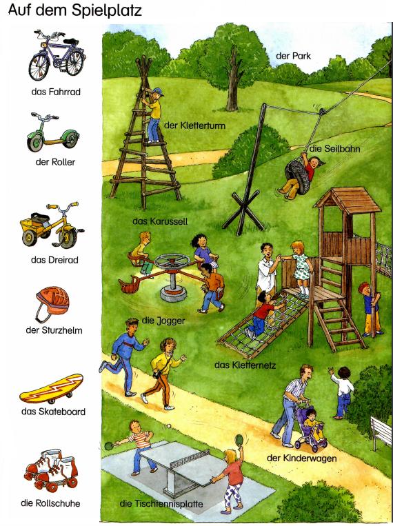 Auf dem Spielplatz ~ Deutsch lernen