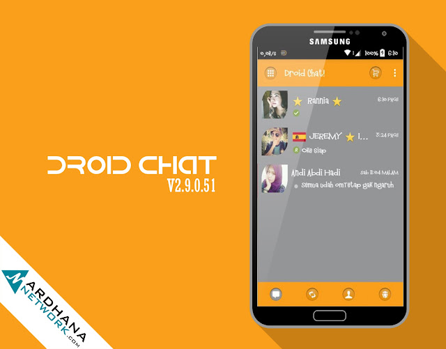 Droid Chat G.O (Grey Orange) V6.8.30 - BBM Android V2.9.0.51