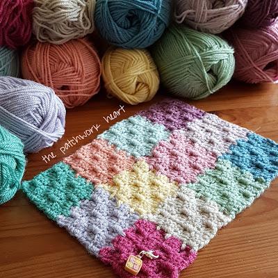 The Patchwork Heart: Gingham blanket C2C JAYG Tutorial
