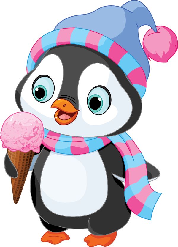 Penguin with Ice Cream Cone