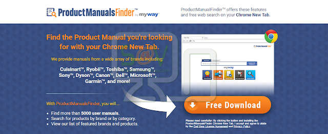 ProductsManualsFinder Toolbar