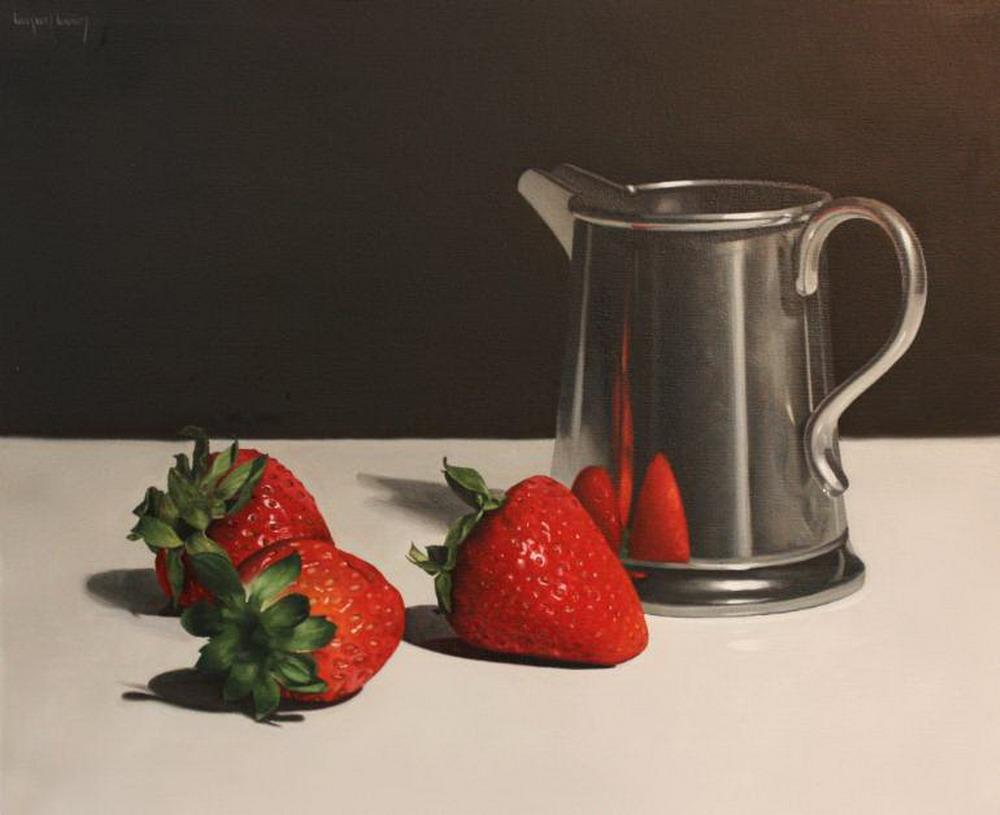 Im genes arte pinturas bodegones con frutas botellas - Frutas de cristal ...