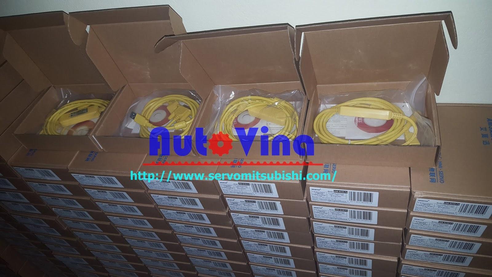 Tổng đại lý cable lập trình PLC, cable nạp chương trình HMI, cable biến tần, cable Servo