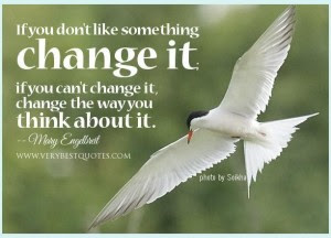power of positive thinking quotes: if don't like something change it if you can't change it,
