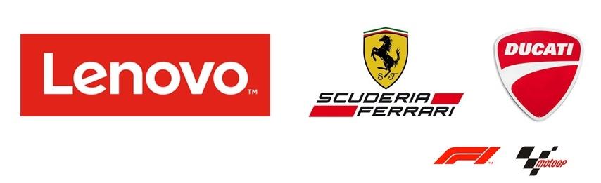 Lenovo menjadi sponsor Scuderia Ferrari dan Ducati Team MotoGP 2018