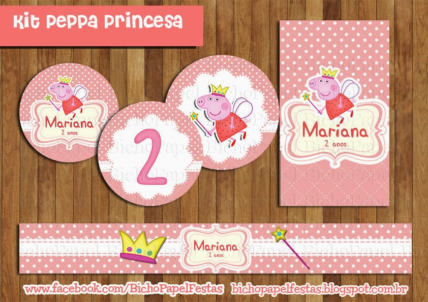 Kit Peppa Pig Princesa Fada