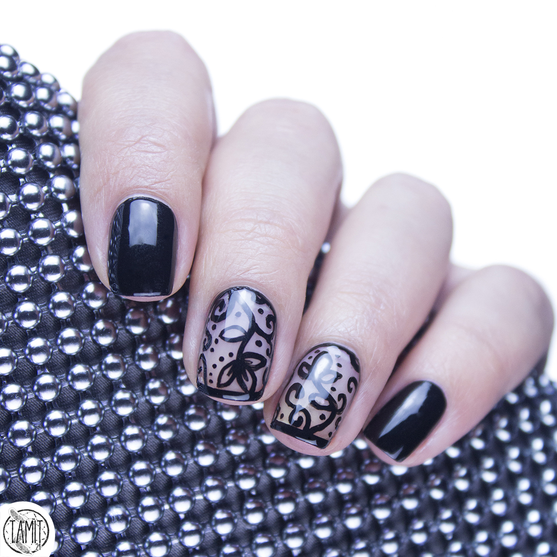 Lace Nails Tutorial Mohito Gold Label Fall In Nailove