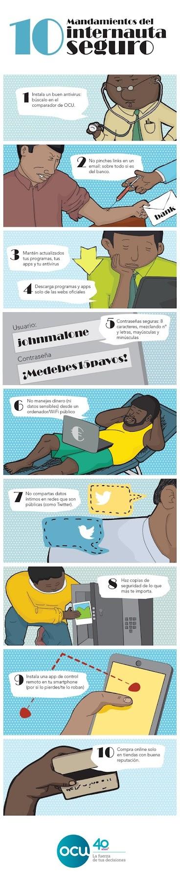 Infografías sobre seguridad en internet