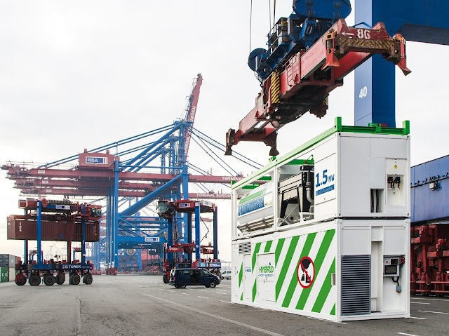 Eco-friendly power for container ships