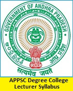 APPSC Degree College Lecturer Syllabus
