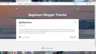 Setting up a blogger website