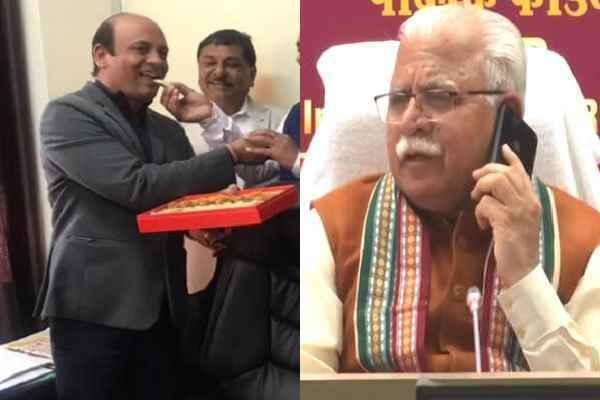 dhanesh-adhlakha-promotion-by-cm-manohar-lal-khattar-in-controversy