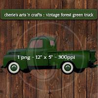 Forest Green Truck