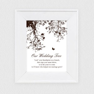 27 Free Printable Template With Poem Explaining To Guests How Fill In Your Wedding Fingerprint Tree Lovely Framed And Placed Beside