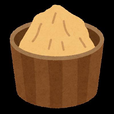 味噌のイラスト(白味噌)