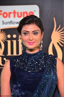 Ishita Vyas in Velvet Sleeveless Choli Designer Saree at IIFA Utsavam Awards 2017  Day 2  HD Exclusive 16.JPG