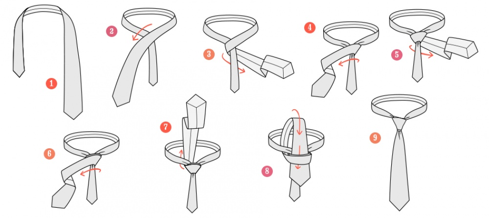 7 ways to tie a tie nicely
