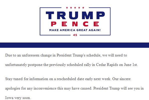 The Randy Report: Trump Campaign Cancels Rally Due To ...