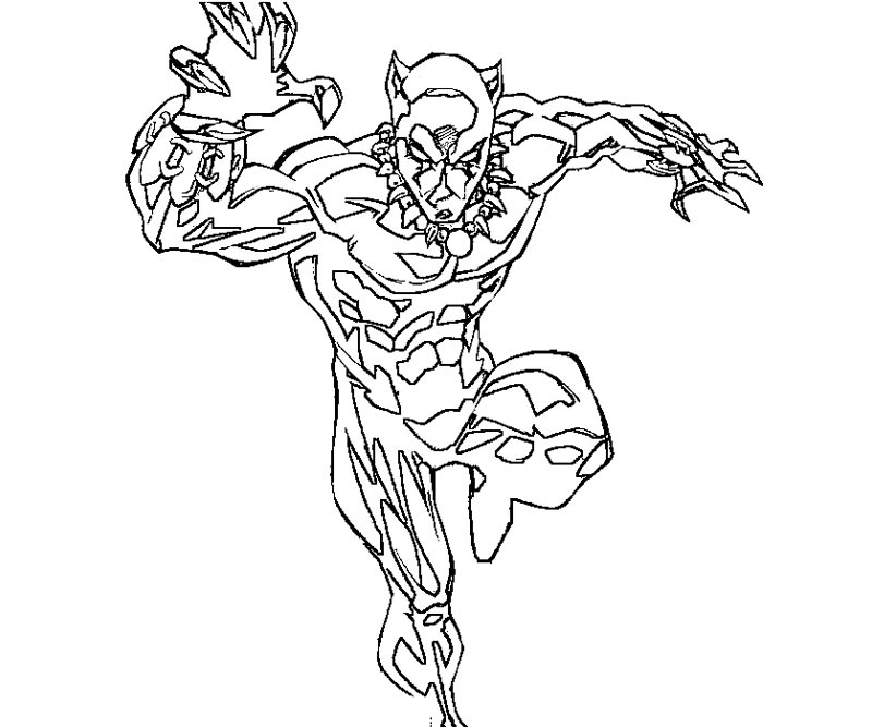 Click the strong black panther coloring pages