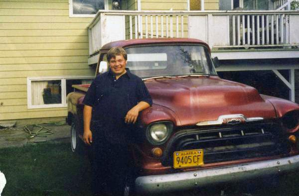 Shawn at age 14 with his '57 Chevy.