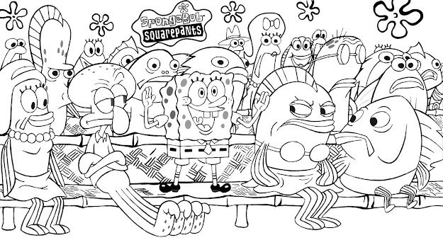 Spongebob Coloring Pages Spongebob Coloring Pages For Kids Xmas