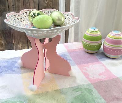 Easter bunny pedestal, Sizzix die cut, Phoomph, stefanie girard