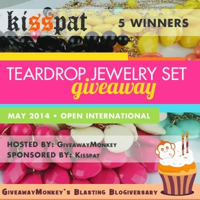Teardrop Fashion Jewelry Set Worldwide Giveaway