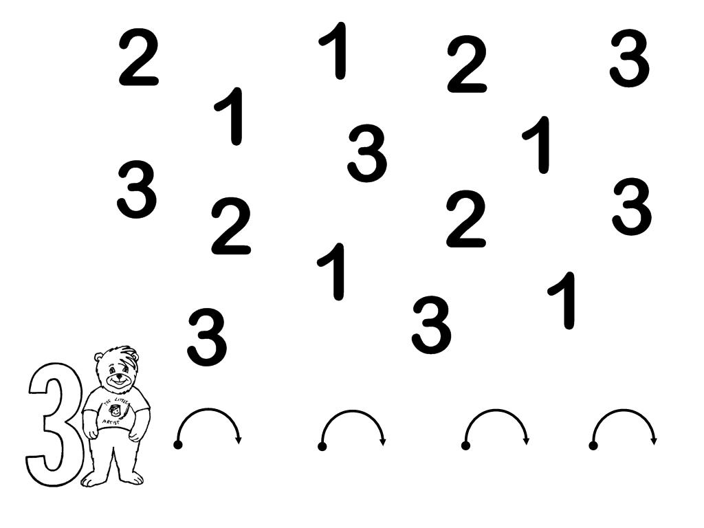 NUESTRO MÁGICO MUNDO: Repaso del número 1, 2 y 3.