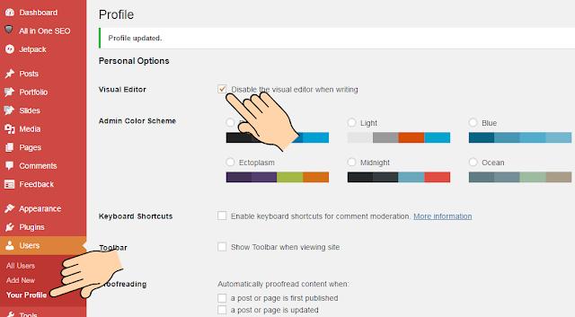 Cara Mengatasi Postingan WordPress Tidak Muncul Menu HTML dan Text ...