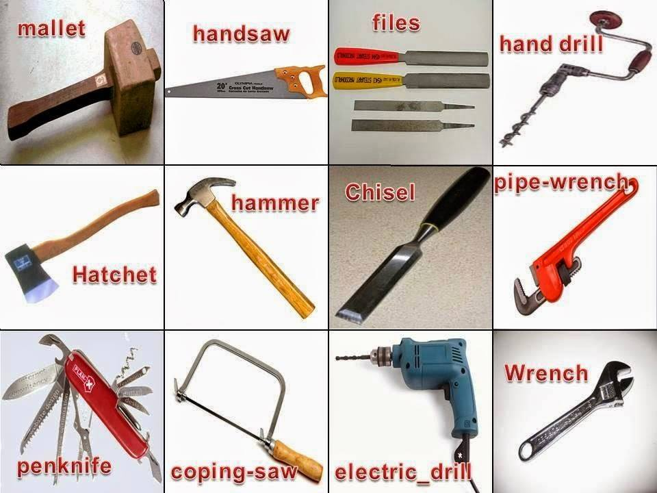 english tools vocabulary ادوات saw beginners pipe wrench drill technology tool انجليزي hand coping كلمات october learn
