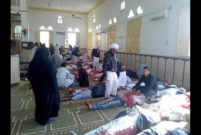 Innalillahi, Masjid di Mesir Dibom Saat Sholat Jum'at, 235 Umat Islam Meninggal Dunia, Lihat Vidionya Bikin Nangis