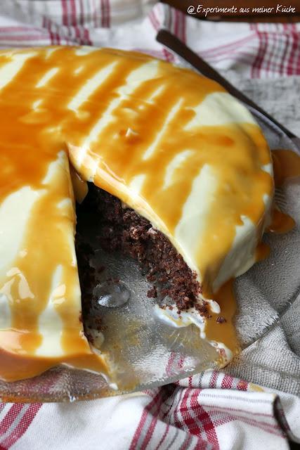 Schoko-Mandel-Brownie mit Frischkäse-Topping | Backen | Rezept | Kuchen