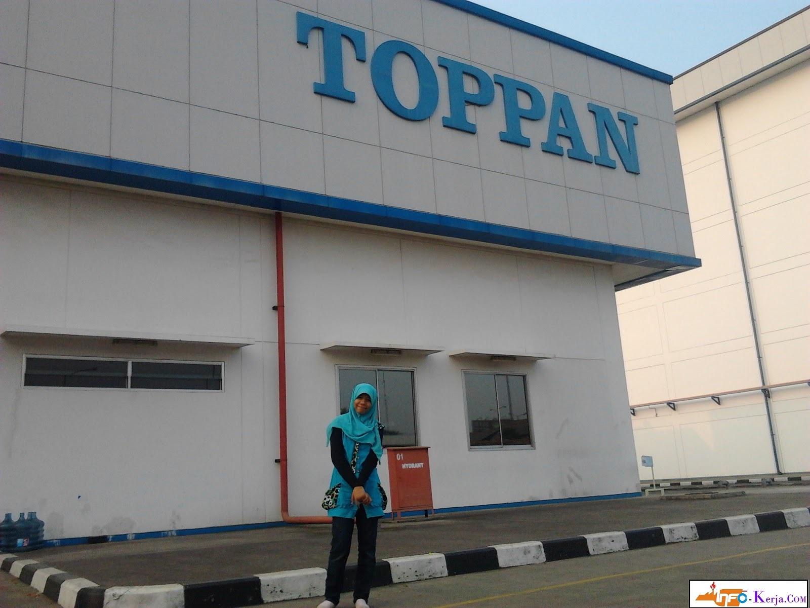 Loker Kawasan Cikaranng PT Toppan Printing Indonesia Posisi kerja Operator produksi