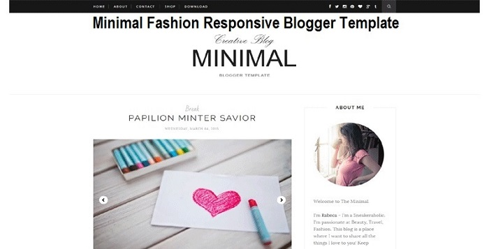 Minimal Fashion Responsive Blogger Template Free Download