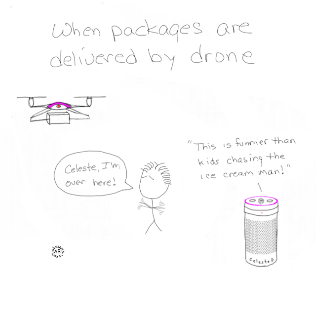 Celeste, Drone, Cartoon