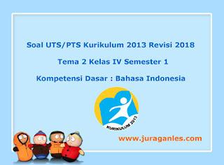 Contoh Soal UTS/ PTS Tema 2 Bahasa Indonesia Kelas 4 Semester 1 K13 Revisi 2018