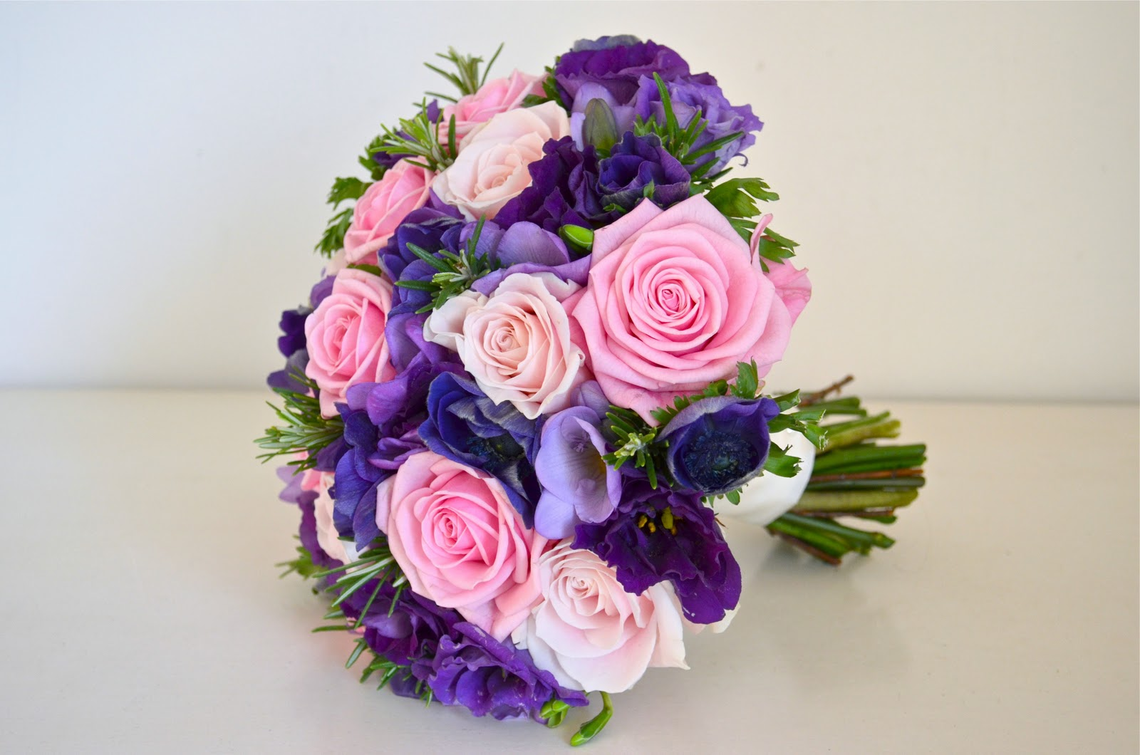 Jonquil S Pink And Purple Wedding Flowers