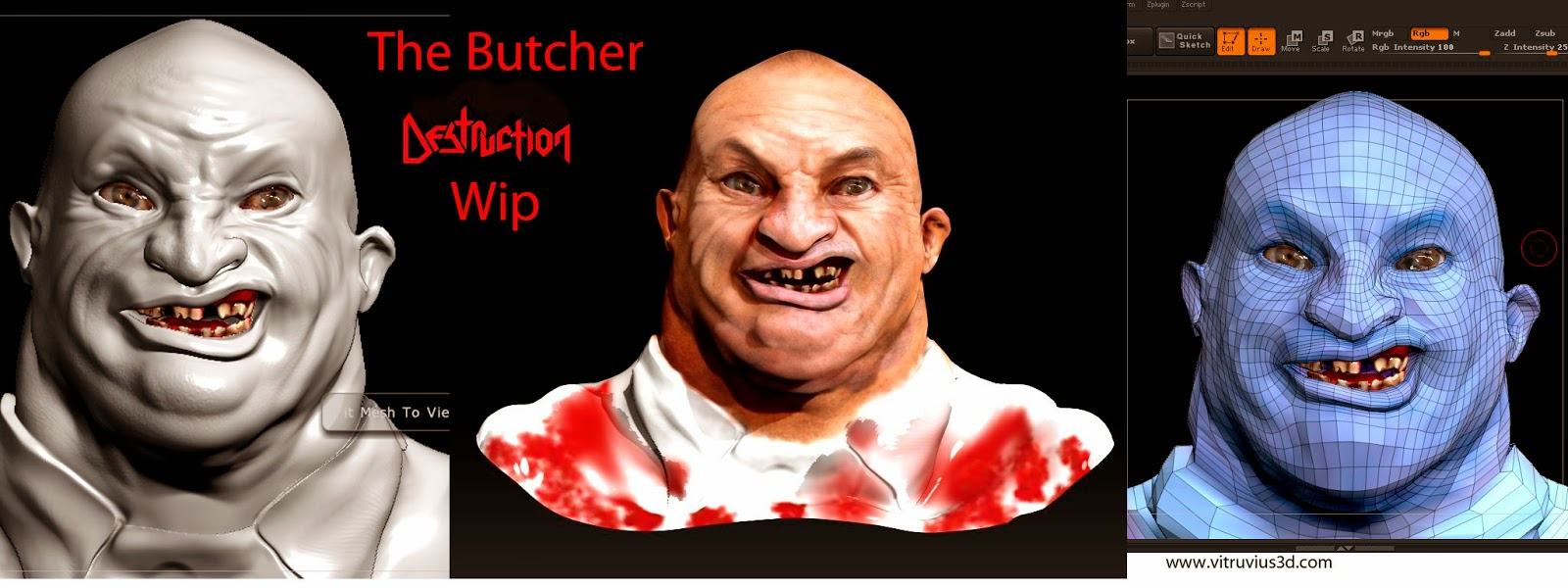 Escultura digital The Mad Butcher